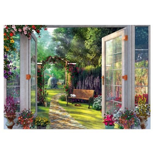 puzzel-domonic-davison-uitzicht-op-de-betoverde-tuin-1000-stukjes (1)