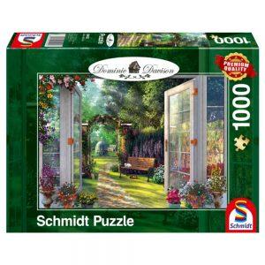 puzzel-domonic-davison-uitzicht-op-de-betoverde-tuin-1000-stukjes