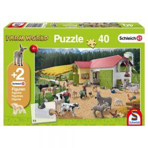 puzzel-schleich-een-dag-op-de-boerderij-40-stukjes
