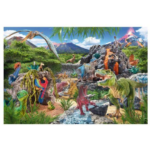 puzzel-schleich-in-het-rijk-van-de-dinosauriers-100-stukjes (1)