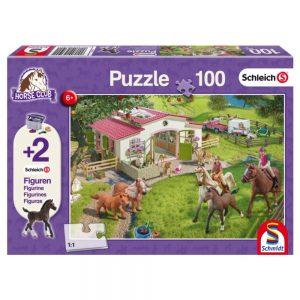 puzzel-schleich-manege-in-de-wei-100-stukjes