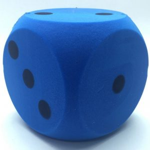 accessoires-foam-dobbelsteen-blauw-16cm