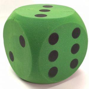 accessoires-foam-dobbelsteen-groen-16cm
