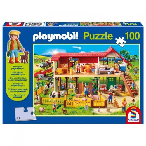 puzzel-playmobil-boerderij-100-stukjes