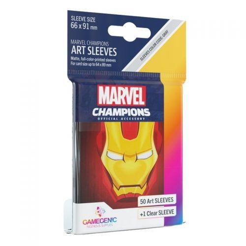 bordspel-sleeves-board-game-sleeves-marvel-champions-iron-man-66-x-91-mm