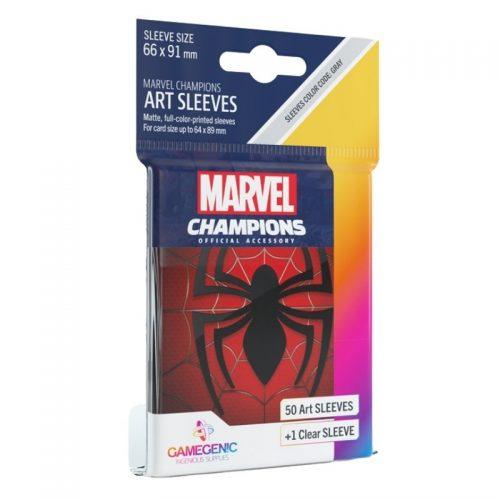 bordspel-sleeves-board-game-sleeves-marvel-champions-spider-man-66-x-91-mm
