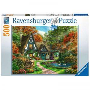 puzzel-ravensburger-cottage-in-de-herfst-500-stukjes