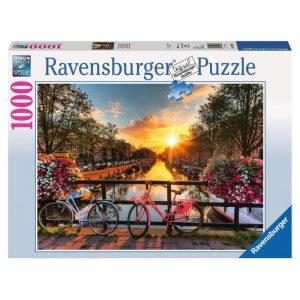 puzzel-ravensburger-fietsen-in-amsterdam-1000-stukjes