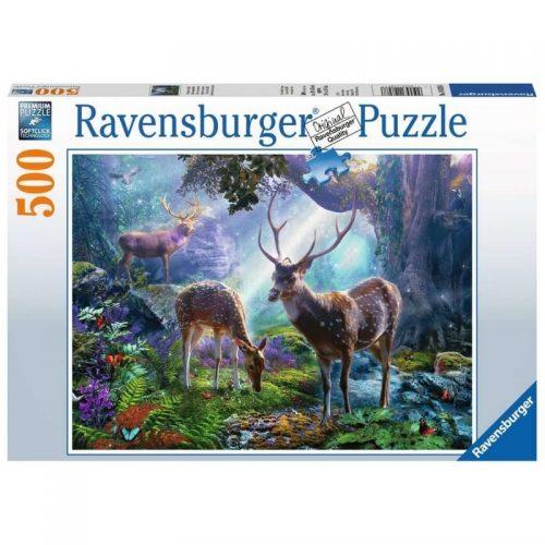 puzzel-ravensburger-herten-in-het-bos-500-stukjes