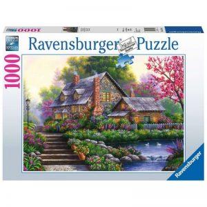 puzzel-ravensburger-romantische-cottage-1000-stukjes