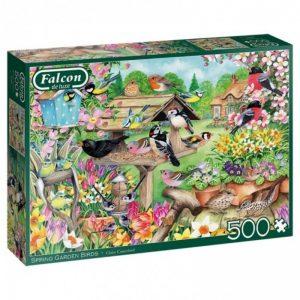 puzzels-falcon-spring-garden-birds-500-stukjes