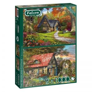 puzzels-falcon-the-woodland-cottage-2-x-1000-stukjes