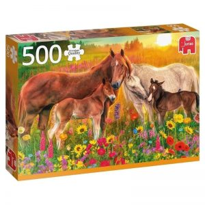 puzzels-jumbo-horses-in-the-meadow-500-stukjes