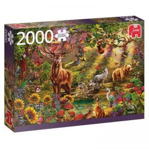 puzzels-jumbo-magische-bos-bij-zonsondergang-2000-stukjes