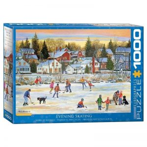 legpuzzel-patricia-bourque-evening-skating-1000-stukjes