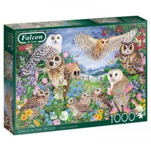 legpuzzel-falcon-owls-in-the-wood-1000-stukjes