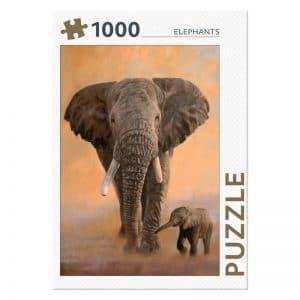 legpuzzel-rebo-elephants-1000-stukjes