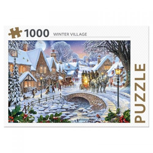 legpuzzel-rebo-winter-village-1000-stukjes