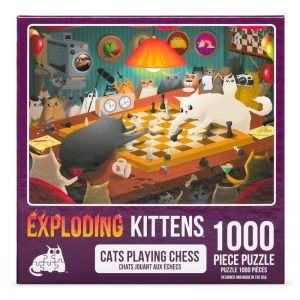 puzzel-legpuzzel-expldoding-kittens-cats-playing-chess-1000-stukjes