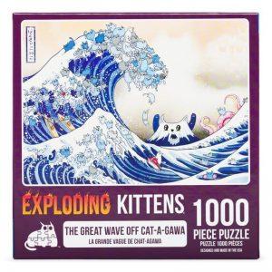 puzzel-legpuzzel-expldoding-kittens-the-great-wave-of-cat-a-gawa-1000-stukjes